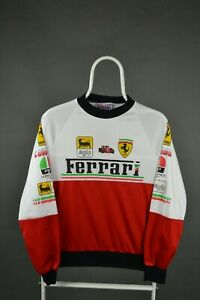 Kids Vintage Long Sleeve T-Shirt with AGIP and Ferrari Patches size children 8