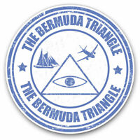 2 x Vinyl Stickers 7.5cm - Bermuda Triangle Travel Cool Gift #9272