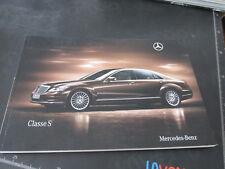 MERCEDES BENZ CLASSE S prospetto brochure 100 pagine ITALIANO