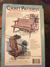 Adirondack chair and bench Craft pattern Diy