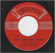 LENNY MILES  -  DON'T BELIEVE HIM DONNA / INVISIBLE   -  SCEPTER 1212