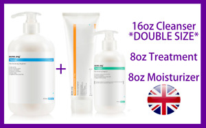 Acne.org The Regimen Mens Complete Treatment Kit with 16oz Cleanser *UK SELLER*