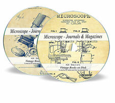 Rare Antique Vintage Microscope Journals Magazine on DVD Microscopy Histology G8