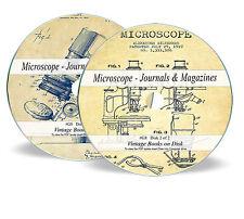 Rare Antique Vintage Microscope Journals Magazine on DVD Microscopy Histology G8