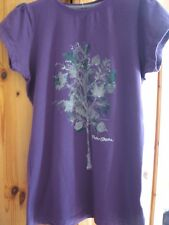 NEW WOMEN'S PETER STORM PERFORMANCE T SHIRT PURPLE TREE DESIGN TOP UK SIZE 10