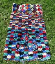 "Authentic Handmade Moroccan Boucherouite Rug carpet 5'9"" x 3'3"""
