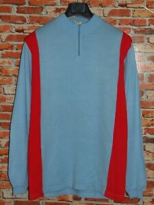 CYCLING JERSEY SHIRT MAILLOT CYCLING EROICA VINTAGE 70'S 50% WOOL