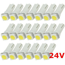 50Pcs White LED 24V T5 1smd Car Cluster Instrument Gauge Dashboard Light Bulbs