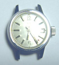 VINTAGE 17 Jewel KALTRON Silver Tone WATCH with DATE & SECOND HAND Working