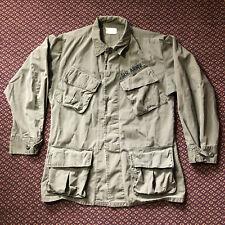 VTG 60s 1969 Vietnam War US Army Slant Pocket OG 107 Jacket Coat Small Short 70s