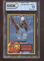 Michael Jordan 1996-97 Fleer #282 NBA All-Star 10 Retro Bulls HOF GEM MINT 10