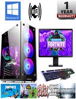 Fast Cheap Gaming PC Bundle Intel Core i7 i5 16GB 1TB GT710 Win 10 WiFi Warranty