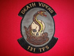 US Air Force Patch 131st Tactical Fighter Squadron DEATH VIPERS