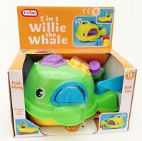 Willie the WHALE Squirting Bath Shape Sorter Baby & Toddler Children's Toy NEW