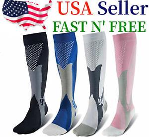 Compression Socks 20-30mmHg Support Miracle Calf Leg Sport Men Women (S~XXL)