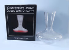 CONNOISSEUR'S DELUXE CLASSIC GLASS WINE DECANTER - NEW