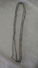 Vintage rosary necklace with clear beads