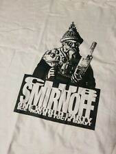 VINTAGE 1990s CLUB SMIRNOFF ONE WORLD PARTY T-SHIRT SIZE L