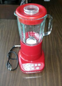 KitchenAid White RED 5-Speed Ultra Power Blender w/Pulse Model KSB5 Kitchen Aid