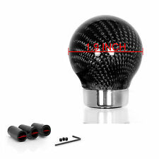 Universal THREADED ROUND CARBON FIBER SHIFT KNOB FOR Mini Peugeot Ford Toyota