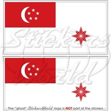 Singapur marine flagge Kriegsflagge fahne 100mm vinyl sticker aufkleber x2