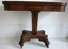 Regency period Brass Inlaid Rosewood Card Table, English circa 1820