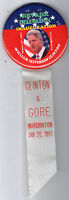INAUGURATION 1997 President CLINTON pinback NEVADA State Delegation January 20