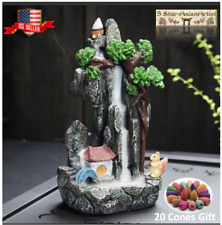 Backflow Incense Cones Burner Holder Mountain Squirrel & 20/50pcs Cones Gift