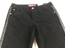 Arizona Jean Skinny Pants Girls 10 Plus Youth Black Velvet Velour 29 x 26 Actual
