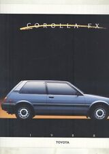 1988 Toyota Corolla FX FX16 GTS Liftback Brochure my6662