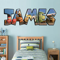 Cars Movie Personalized Name Custom Decal Wall Sticker Mural Disney Mcqueen