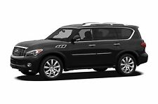 BODY SIDE Moldings PAINTED With Chrome Trim Insert For: INFINITI QX80 2014-2017