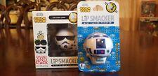 Disney Star Wars Tsum Lip Smacker Set Stormtrooper Ice Cream R2D2 Blueberry