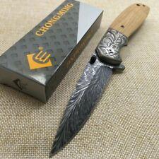 Couteau de chasse pliant pour la survie, couteau de poche de Camping,