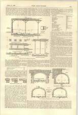 1900 Electric Underground Railway For New York 2 Tunnels Sections Harlem River