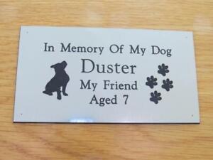 Personalised Engraved Pet Memorial or Celebration Plaque Various Sizes.- LPT12