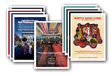 EARTH WIND AND FIRE - 10 promotional posters  collectable postcard set # 1