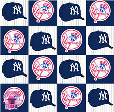 MLB New York Yankees Block Fleece Fabric 6530 B