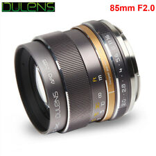 DULENS APO 85mm F2.0 Apochromatic Full Frame Lens for Canon  EF Nikon F Mount
