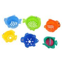 Baby Bath Bathtub Toys Plastic Folding Stacking Cups Kids Bathing Cute Toys