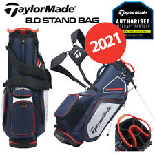 TaylorMade Pro 8.0 Golf Stand Bag 7-WAY Top Navy/White/Red - NEW! 2021