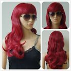 Women Fashion Lady Anime Long Curly Wavy Hair Party Cosplay Full Wig Ombre Hgs6