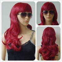 Hot 24 inch Wavy Curly Cosplay Full Wig Women Wig Long Hair Heat Resistant Wig