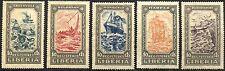 Liberia SC# F30-F34 Stamps Postage 1924 Registered Set MINT LH OG