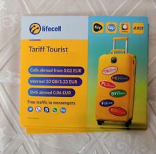 New!  LTE LIFECELL Ukraine SIM card activated and ready use Ukrainian