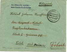 Lettre en franchise adressée à un soldat alsacien incorporé de force à Tilsit
