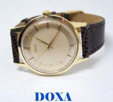 Vintage Solid 14k Gold DOXA Men's Winding watch 1960's 10315* EXLNT* SERVICED