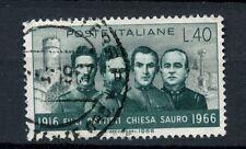 ITALIA 1966 SG # 1169 PRIMA GUERRA MONDIALE EROI USATO #A 40282