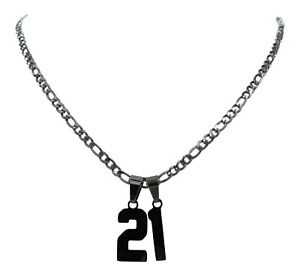 NEW! 22 Inch PICK YOUR NUMBER - Stainless Steel Chain Necklace Baseball Softball