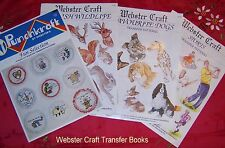 Webster Craft 100+ Iron on embroidery Transfers Punch Needle or craft transfers